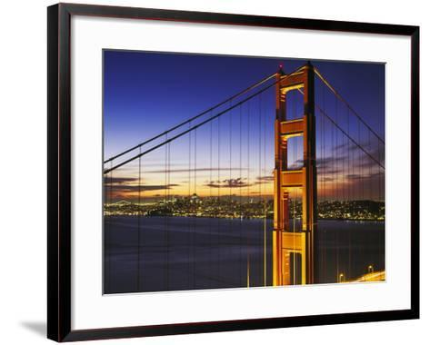 Golden Gate Bridge at Dawn-Brian Lawrence-Framed Art Print