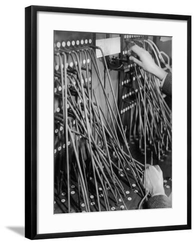 Telegraph Operation-Chaloner Woods-Framed Art Print