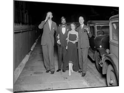 Partygoers--Mounted Photographic Print