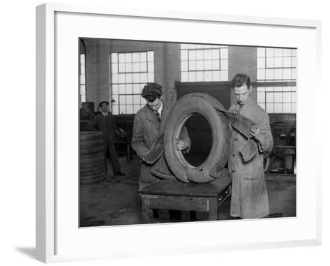 Tyre Test--Framed Art Print
