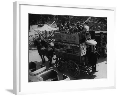 A Horse Bus--Framed Art Print