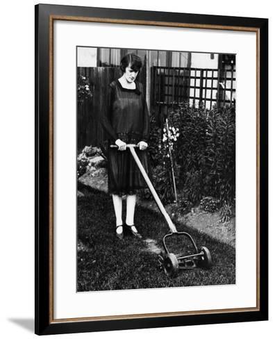 Mower--Framed Art Print
