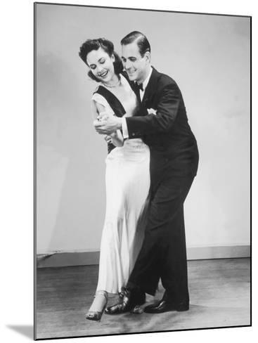 Couple in Formal Wear Dancing--Mounted Photographic Print