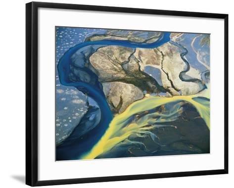 Aerial View of Glaciers-David Yarrow Photography-Framed Art Print