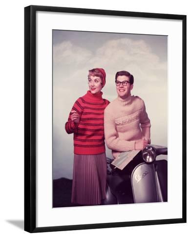Vespa Chic-Chaloner Woods-Framed Art Print