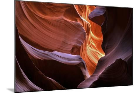 Abstract Sandstone Sculptured Canyon Walls-Mitch Diamond-Mounted Photographic Print