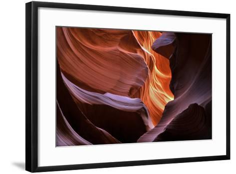Abstract Sandstone Sculptured Canyon Walls-Mitch Diamond-Framed Art Print
