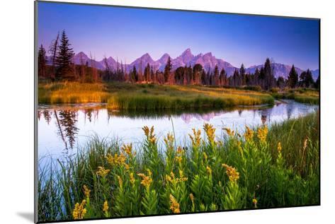 Teton Sunrise-Steve Burns-Mounted Photographic Print