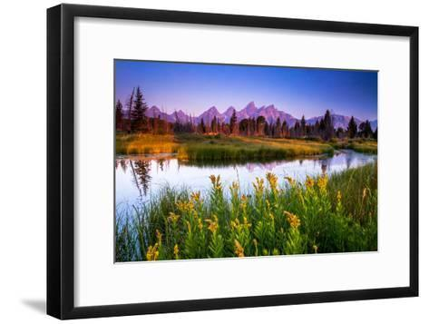 Teton Sunrise-Steve Burns-Framed Art Print