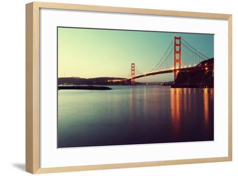 Golden Gate Bridge-Anindo Dey Photography-Framed Art Print