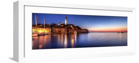 Rovinj Blue Hour Sunset / Istria, Croatia-Copyright NielsKristian Photography-Framed Art Print