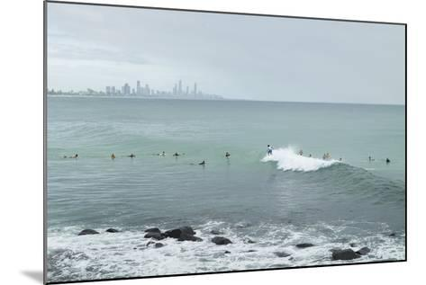 Surfing Early Morning , Queensland , Australia-Southern Stock-Mounted Photographic Print