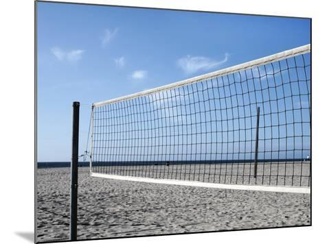 Empty Volleyball Field on the Beach-Frank Rothe-Mounted Photographic Print
