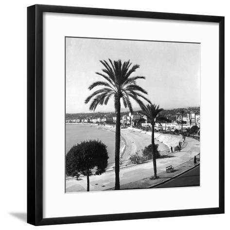 Beachfront at Nice-Getty Images-Framed Art Print