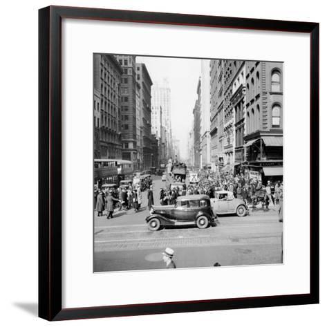 New York Street Scene-Hulton Archive-Framed Art Print