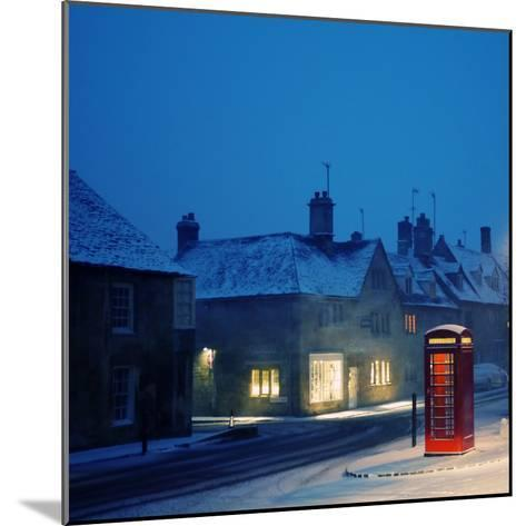 English Red Telephone Booth, in Snow-Andrew Lockie-Mounted Photographic Print