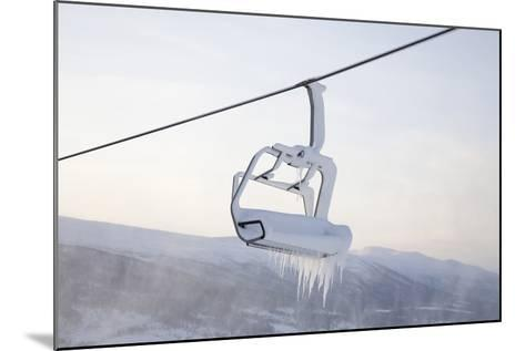 Chair Lift Full of Snow and Ice-Tiina & Geir-Mounted Photographic Print