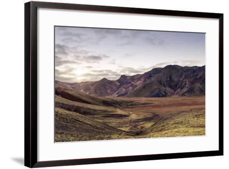Iceland Landmannalaugar Autumn Colors-spreephoto.de-Framed Art Print