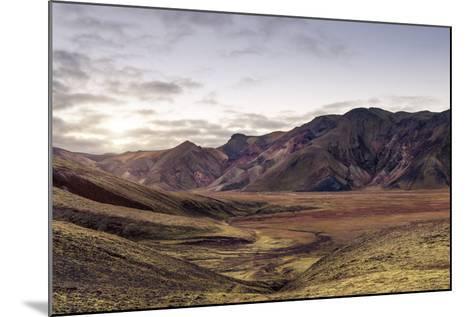 Iceland Landmannalaugar Autumn Colors-spreephoto.de-Mounted Photographic Print