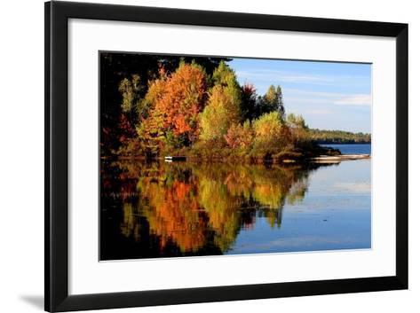 Thompson Lake-photo by Bob Travis-Framed Art Print