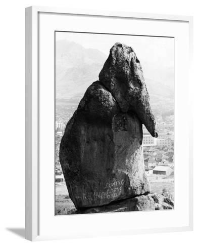 Macedonian Stone-Keystone-Framed Art Print