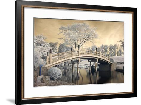 Japanese Style Bridge and Gardens in Singapore-Cheoh Wee Keat-Framed Art Print