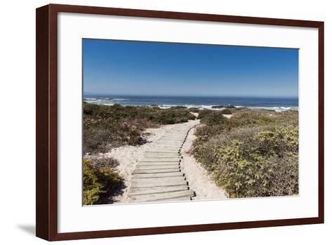 Boardwalk Leading towards the Beach-Eric Audras-Framed Art Print