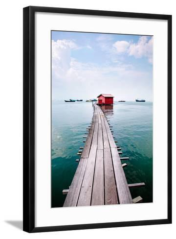 Clan Jetty Boardwalk, Penang-Will Tan-Framed Art Print