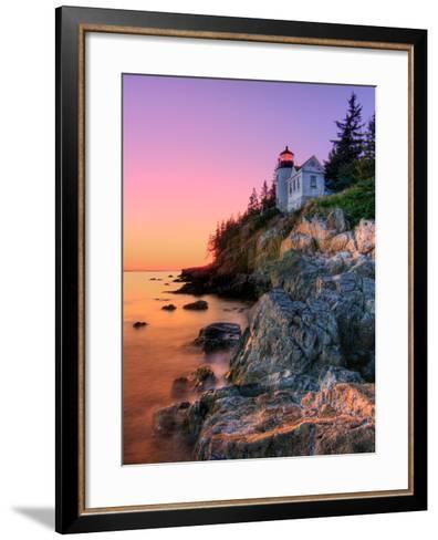 Pastel Bass Harbor Lighthouse-Kevin A Scherer-Framed Art Print
