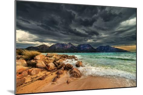 Storm Clouds over Mountains and Beach-Steve Daggar Photography-Mounted Photographic Print