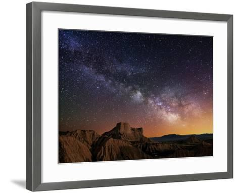 Milky Way over the Desert-Inigo Cia-Framed Art Print