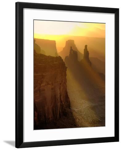 Sun Beams on the Mesa-Daniel Cummins-Framed Art Print