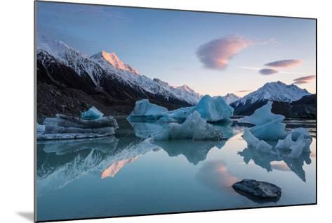 Sunrise at Tasman Glacier River-Yi Jiang Photography-Mounted Photographic Print
