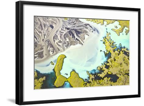 Iceland Aerial View-Werner Van Steen-Framed Art Print