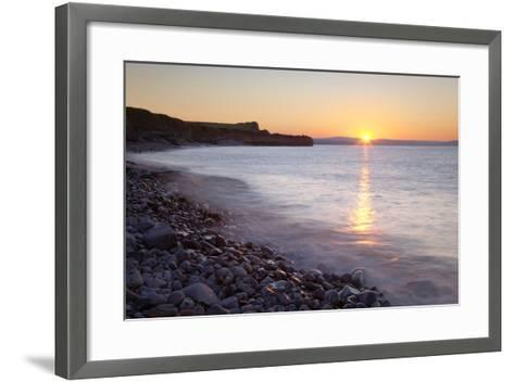 Sunset at Kilve Beach, Somerset.-Nick Cable-Framed Art Print