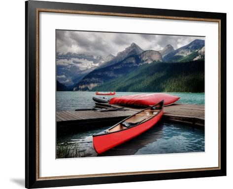 Banff National Park (Lake Louise)-Rex Montalban Photography-Framed Art Print