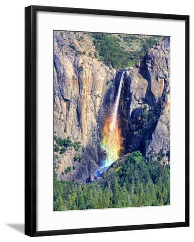 Rainbow Fall-David Toussaint-Framed Art Print