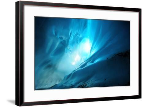 Ice Cave Lighting-Piriya Photography-Framed Art Print