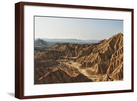 Natural Park Bardenas of Navarra-Izeta-Framed Art Print
