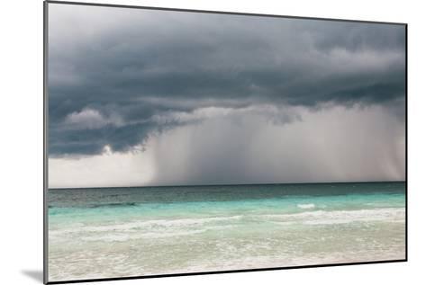Rain Storm over the Ocean and Beach-Sasha Weleber-Mounted Photographic Print