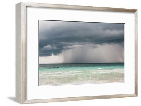 Rain Storm over the Ocean and Beach-Sasha Weleber-Framed Art Print