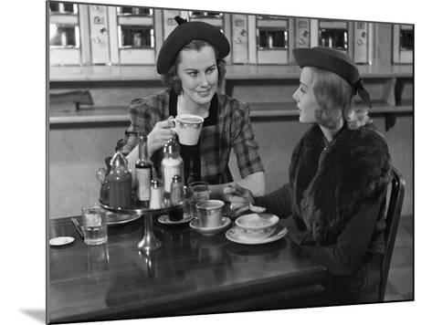 Two Women at Restaurant-George Marks-Mounted Photographic Print