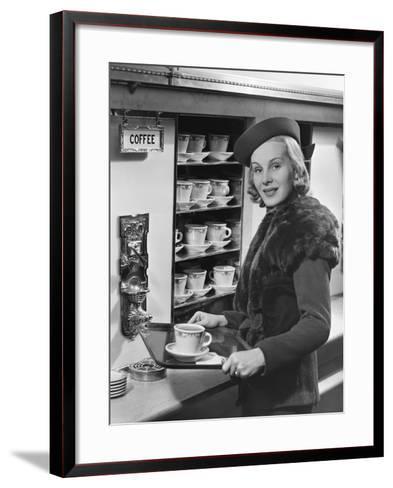 Woman W/Coffee on Tray-George Marks-Framed Art Print