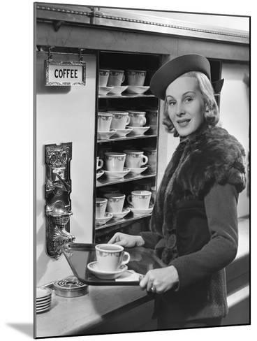 Woman W/Coffee on Tray-George Marks-Mounted Photographic Print