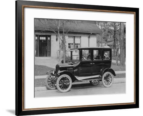 Model T Ford-Three Lions-Framed Art Print