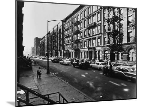 122Nd Street Harlem-Frederic Lewis-Mounted Photographic Print