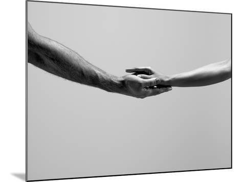 Female and Male Hands-Jonathan Knowles-Mounted Photographic Print