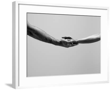 Female and Male Hands-Jonathan Knowles-Framed Art Print
