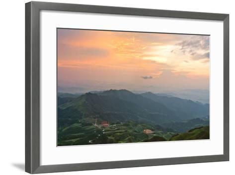 Vietnam Landscape at Sunset-Long Hoang-Framed Art Print