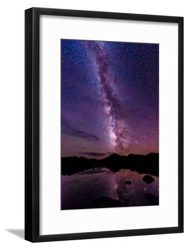 Milky Way Reflections-Photo by Matt Payne of Portland, Oregon-Framed Art Print